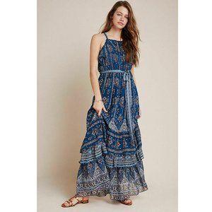 Anthropologie Sasha Ruffled Printed Maxi Dress XL